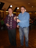 Alan and Peter with The Mary Rogers Trophy