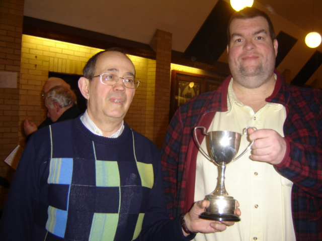 Dennis & David receive the Mary Rogers Trophy