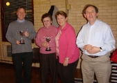 Trophy winners: Catriona Lovett, Maureen Vede, Chris Megahey, Alaric Cundy